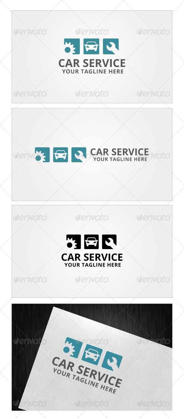 Car Service Logo Template — Photoshop PSD #agency #engine • Available here → https://graphicriver.net/item/car-service-logo-template-/8117071?ref=pxcr
