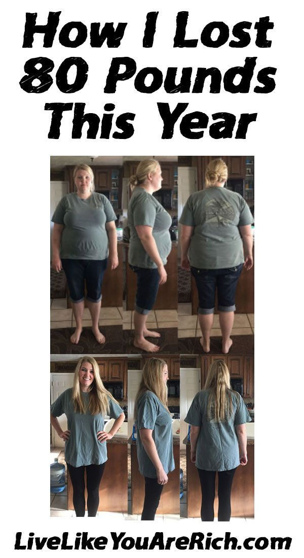 How I Lost 80 Pounds This Year the tips and tricks I used to ensure successful weight loss. #LiveLikeYouAreRich