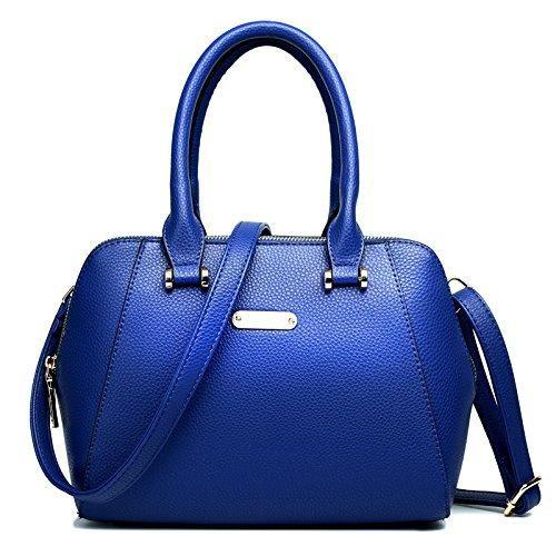 Oferta: 20.3€. Comprar Ofertas de Miss Lulu - Bolso de tela de Otra Piel para mujer Multicolor azul marino barato. ¡Mira las ofertas!