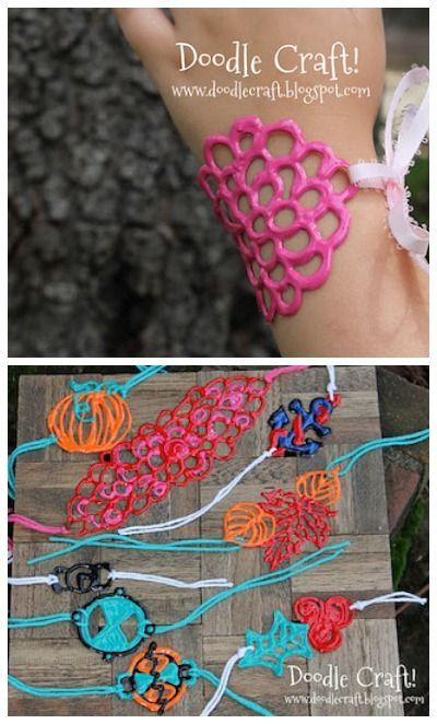 Puffy paint bracelets…cool!