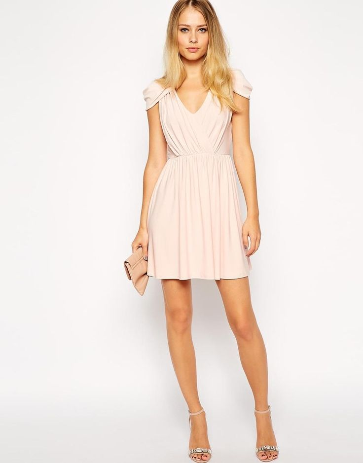 ASOS | ASOS Wrap Front Mini Dress at ASOS