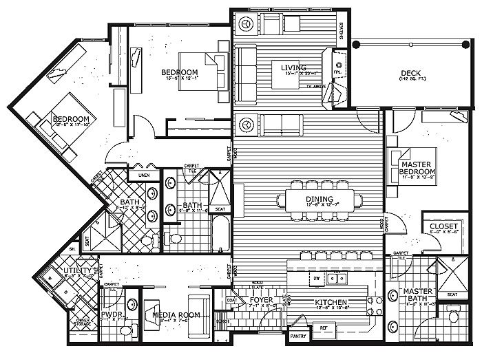 17+ Ideas About Condo Floor Plans On Pinterest