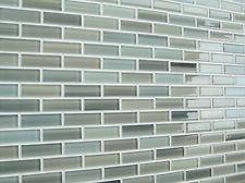 Details About Light Gray Blue Aqua Green Glass Mosaic Subway Tile Bathroom  Kitchen Backsplash