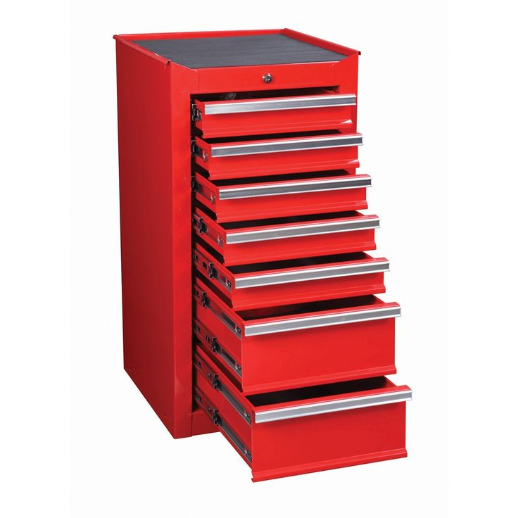 189 99 7 Drawer Red End Cabinet For Roller Tool Chest