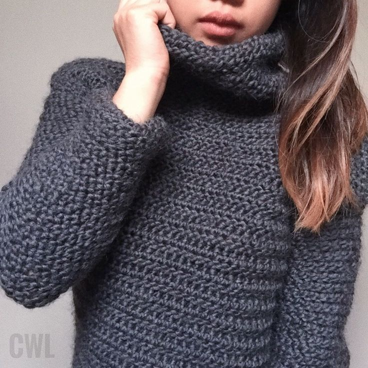 Crochet turtleneck sweater by Crochitted with Love