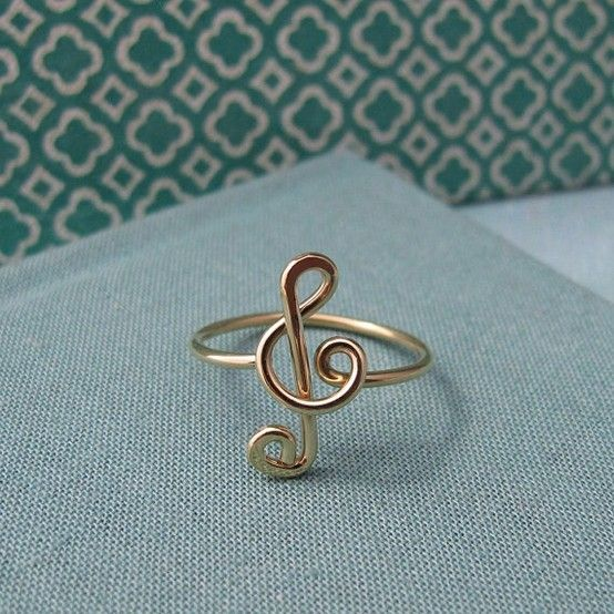 57 best jewlery images on pinterest tag watches ladies diy treble clef ring for music lovers such as mwah solutioingenieria Images