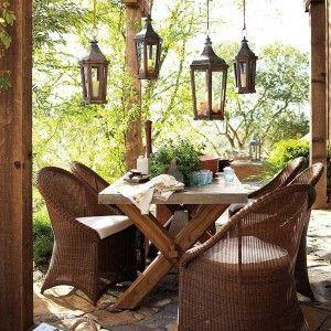 Exteriors: Outdoor Decor Modern Rustic Backyard