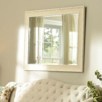 Dockside White Framed Mirror, 37x47 | Kirklands
