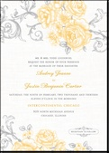 Antique Rose Scrolls:BurstInvitation Design, Antiques Rose, Rose Scrolls Watermelon, Pink Roses, Rose Scrolls Burst, Wedding Invitations, Scrolls Invitations, Pretty Invitations, Wedding'S And Ev