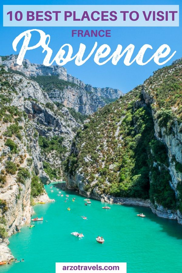 Find out about the 10 best places to visit in Provence France I where to go in France I Where to visit in Provence I Lavender fields Provence I Gorge du Verdon Provence