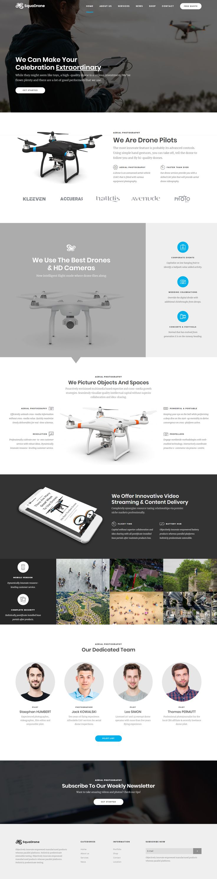 #squadrone #WordPress #theme #drone #UAV #business #services #responsive #retinaready #boldthemes #themeforest #envato #photography #video #filmmaking