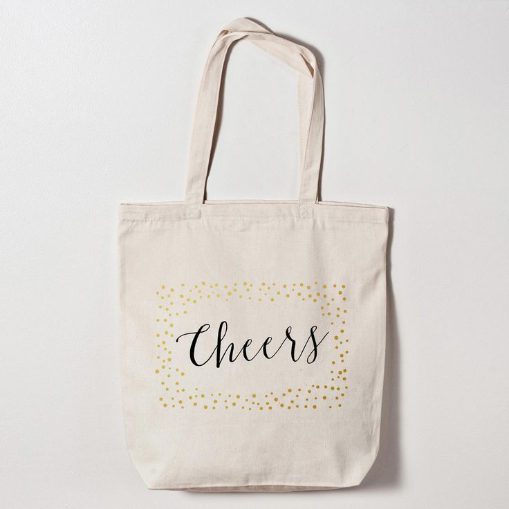 Cheers Calligraphy Wedding Welcome Bag