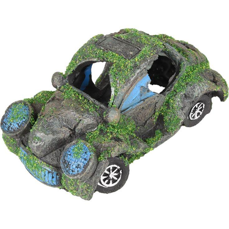 Aquarium Decoratie Auto Kever Met Mos Kever Auto Aquarium