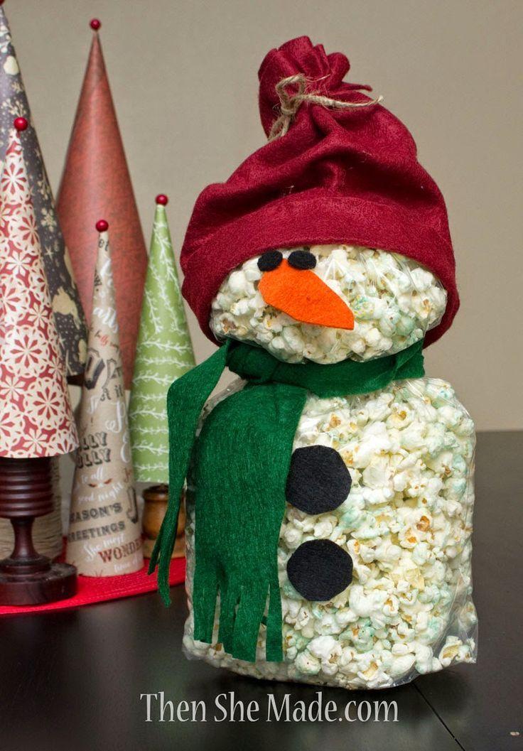 Image result for popcorn snowman