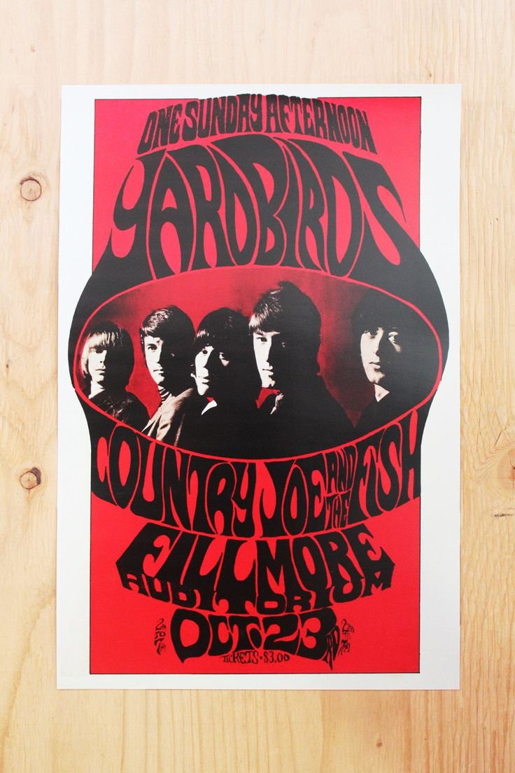 Yardbirds - Fillmore Auditorium 1966 Poster – Miracle Eye