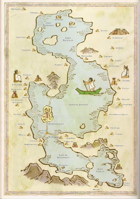 Lago de Texcoco from the conquest of Mexico, Miguel Gomez