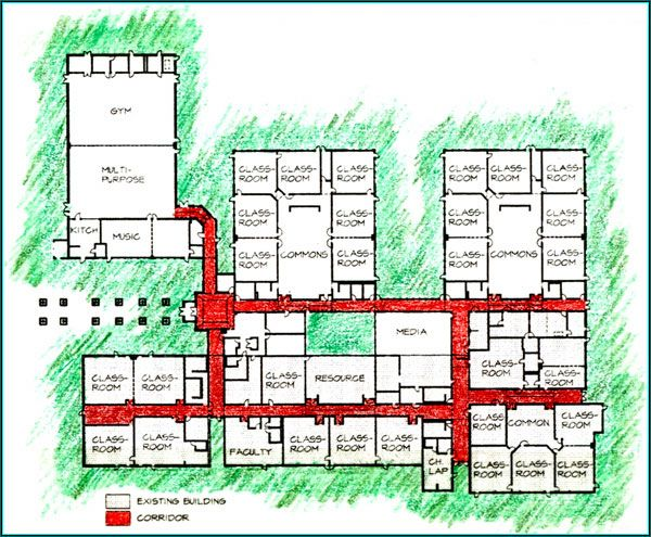 Elementary school building design plans yacolt primary for School project plan