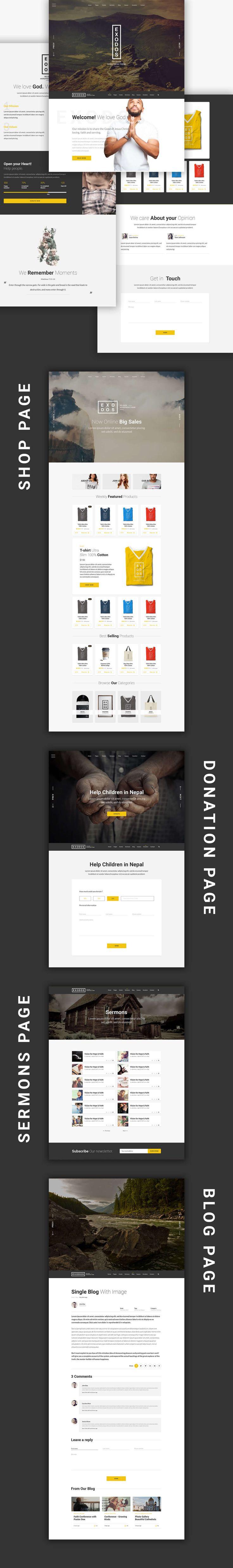 Exodos - Church WordPress Theme by modeltheme   ThemeForest