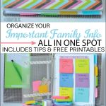 Make a family binder - with printables