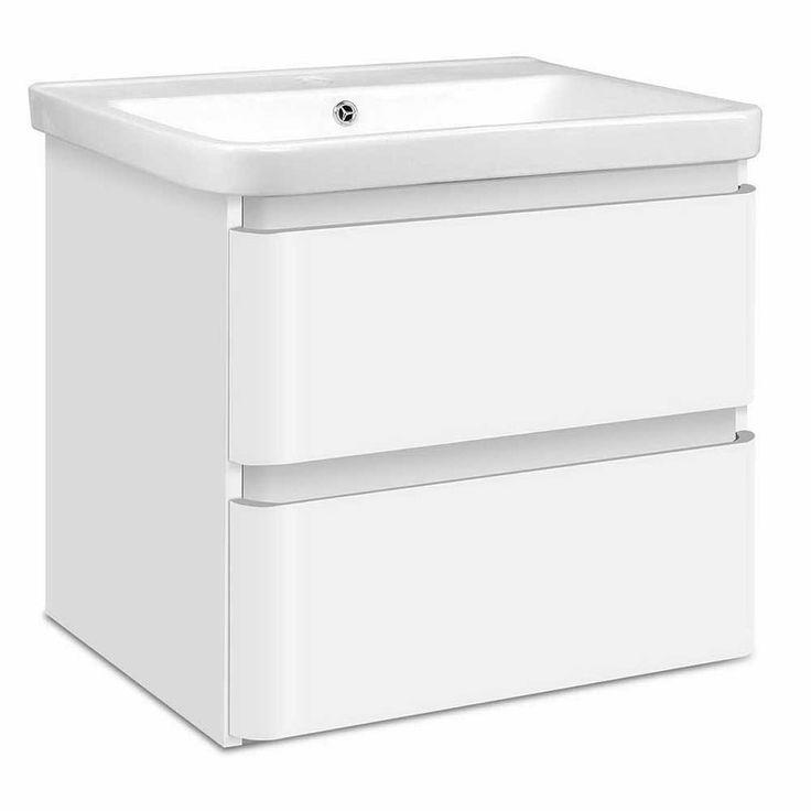 Ceramic Basin Bathroom Vanity with 2 Drawers 60cm | Buy Bathroom Vanities