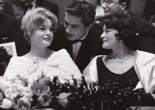 Romy-Schneider-Alain-Delon-Original-Vintage-Janvier-1962