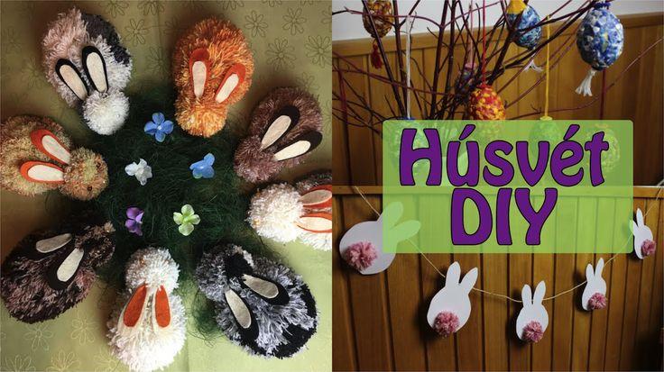 DIY Húsvéti Dekorációk - Néhány kézzel készített dekorációs ötlet, ami azonnal meghozza a kedved Húsvéthoz. Nektek melyik tetszett legjobban a 3 közül? :) Ha...