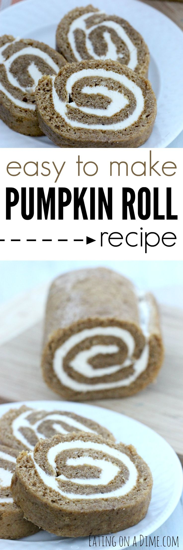 Easy to Make Pumpkin Roll recipe.  If I can be successful making this pumpkin roll, I know you will be able to do it well, too.