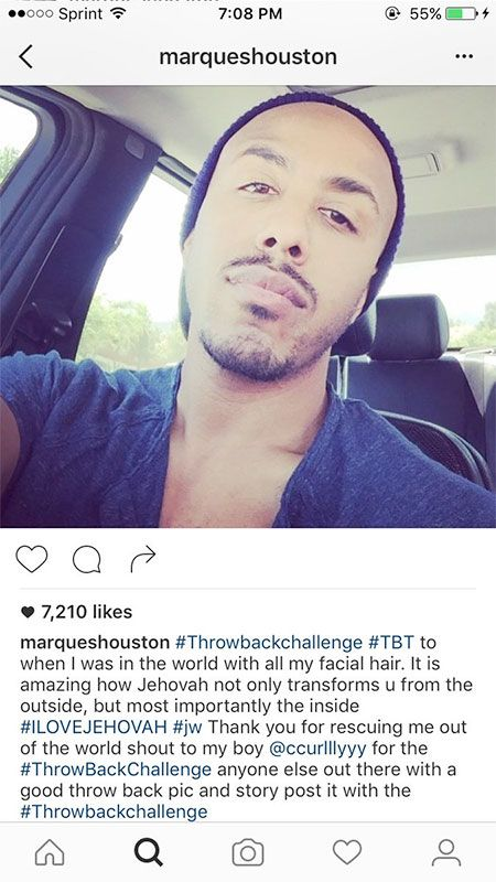 R&B singer Marques Houston was raised as a Jehovah's Witness, and he's now returned to the church. According to people close to Marques he's officially A JEHOVAH'S WITNESS AGAIN. Marques…