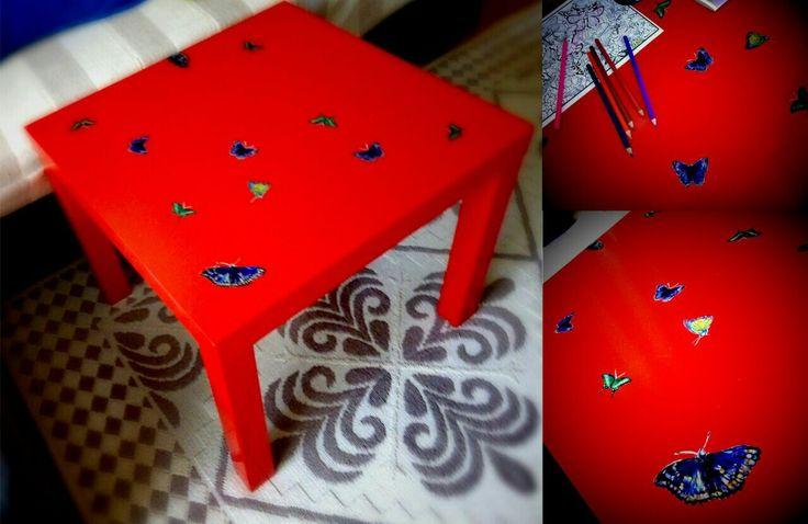 DIY. Красный стол.