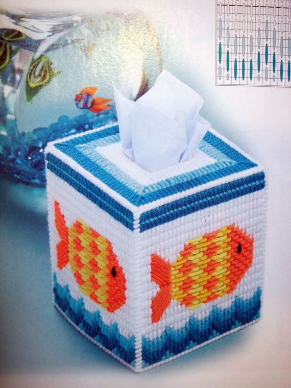 The Ultimate Tissue Topper Collection Plastic Canvas Book by NeedANeedle, $8.75 Plastic Canvas Tissue Box Cover