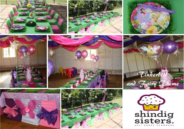 A Tinkerbell Party set up by Shindig Sisters Party Planners at a Durban based kiddies venue