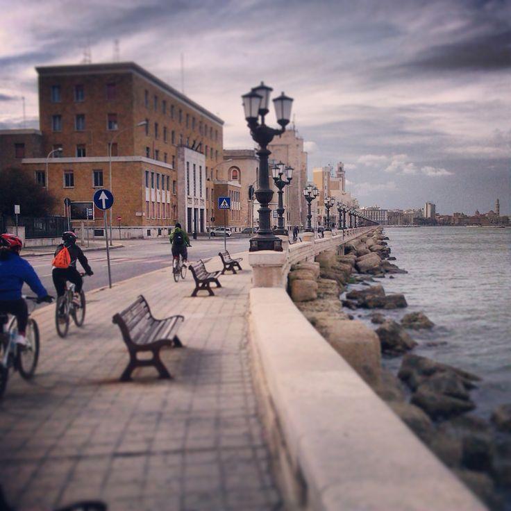 arrivo a Bari in bici #weareinpuglia