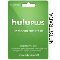 Hulu Plus 12 Month USA Membership Gift Card 1 Year Emailed World wide