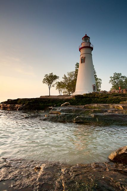 Dawn At The Shore. Marblehead, Ohio- Lighthouse photo by Eric | Flickr - Photo Sharing!