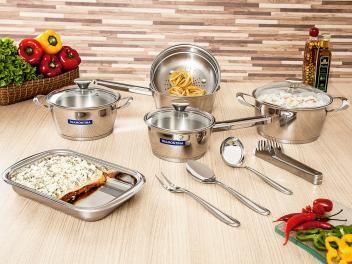 Conjunto de Panelas Tramontina Gourmet Ventura - Inox 10 Peças Fundo Triplo