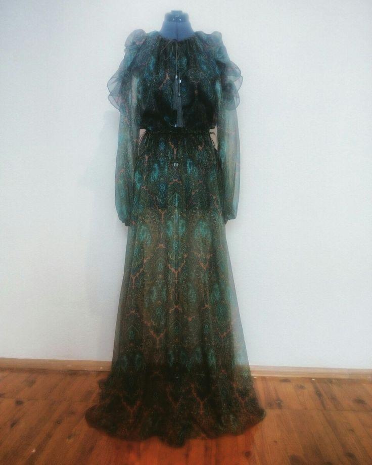 Шёлковое шифоновое платье от @modarnv WhatsApp/Viber +7(952)269-19-72
