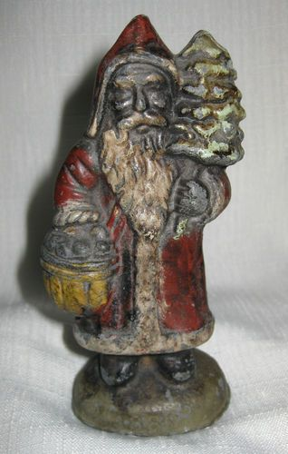 1800's Antique Solid Lead Figurine Saint Nick Santa Claus Belsnickle | eBay