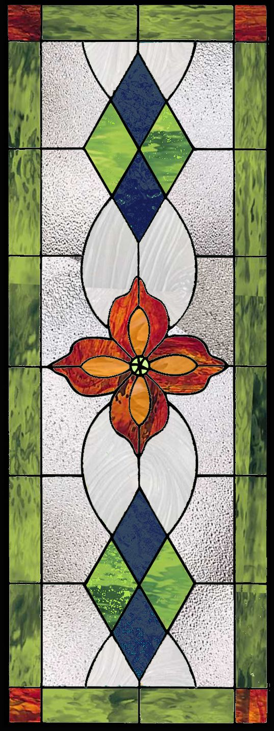 Traditional Stained Glass Window Panel