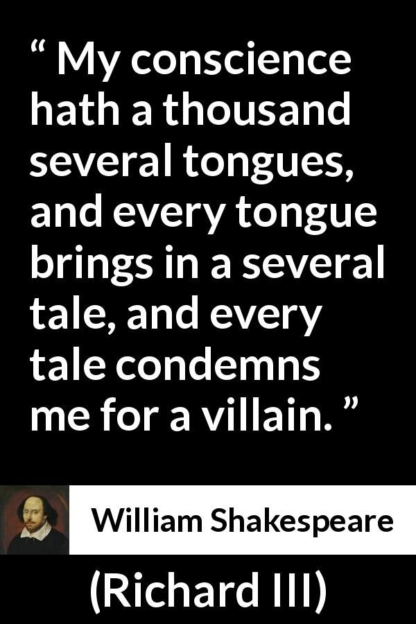 conscience and responsibility in hamlet by w shakespeare No fear shakespeare hamlet  as for hamlet and his attentions to you, just consider it a big flirtation, the temporary phase of a hot.