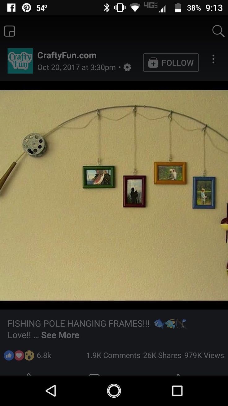 Fishing pole picture frames