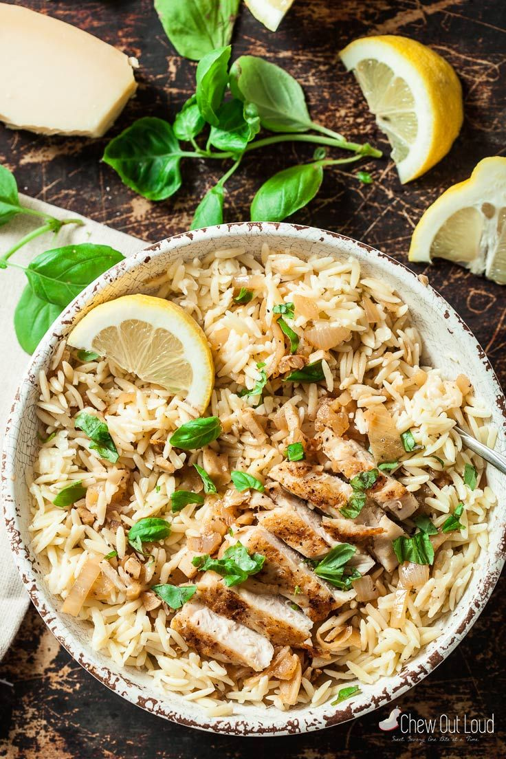 lemon basil orzo with chicken