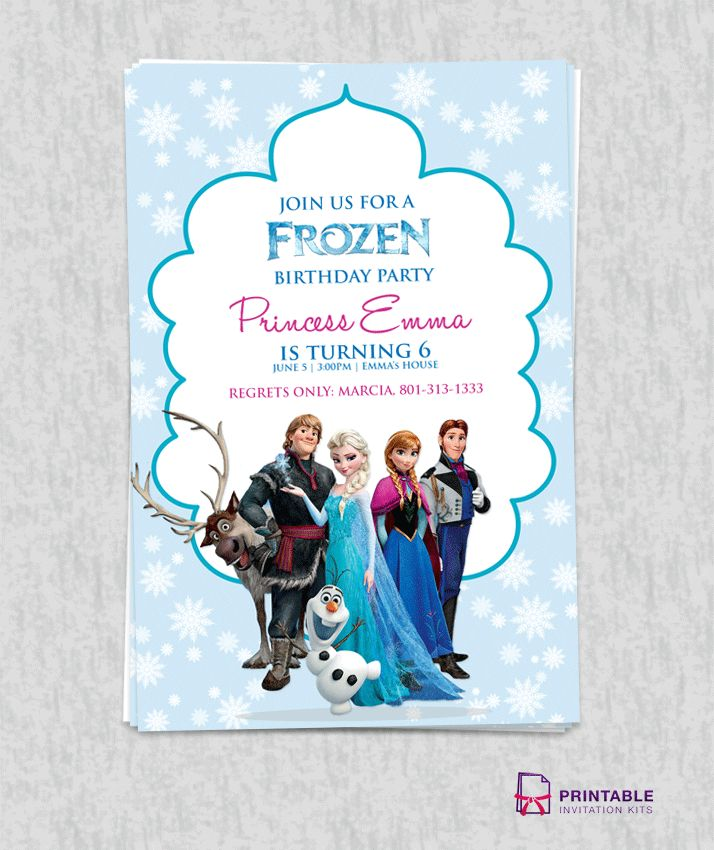 Best 25 Free frozen invitations ideas – Where Can I Print Birthday Invitations