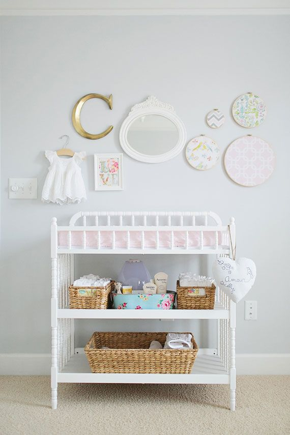 Grey, White & Pink Nursery « Spearmint Baby