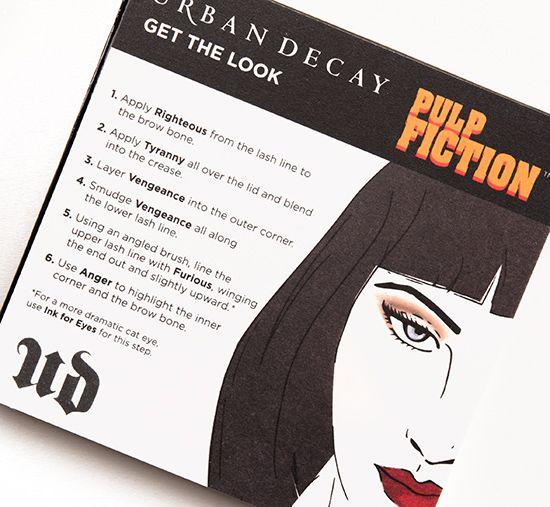 Urban Decay Pulp Fiction Palette instruction card
