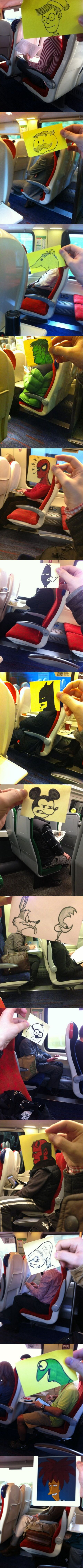 14 montages photos avec un post-it