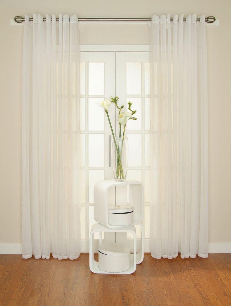 White Linen Curtains