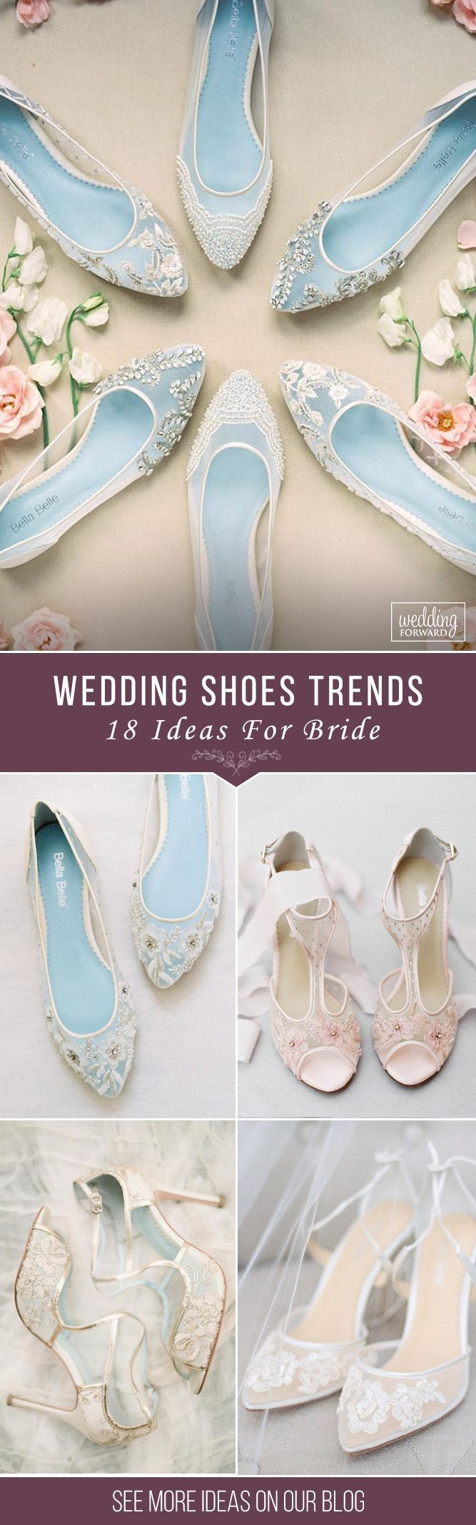 Hottest Wedding Shoes Trends For Bride ❤️ Bridal shoes ideas lace flats comfortable high heels bella belle  ❤️ See more: http://www.weddingforward.com/wedding-shoes-trends/ #weddingforward #wedding #bride #weddingshoes