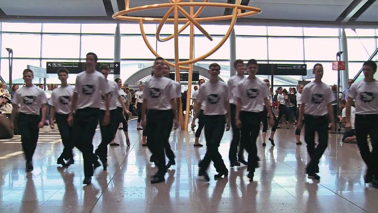 TAKE THE FLOOR Flashmob Dublin Airport <3 When I go to Ireland, I want to see a Riverdance performance. <3