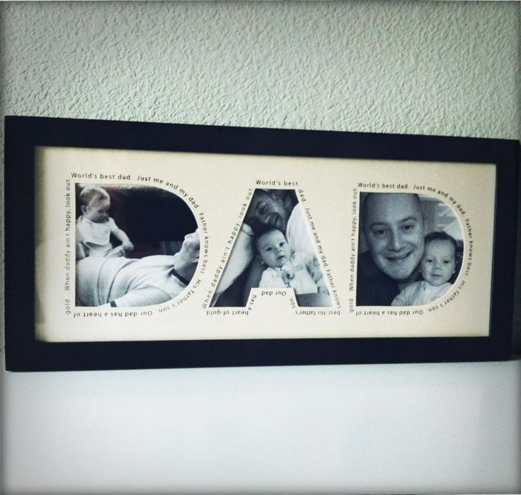 süßes Bild für den Vatertag mit Fotos aus der früheren Kindheit
