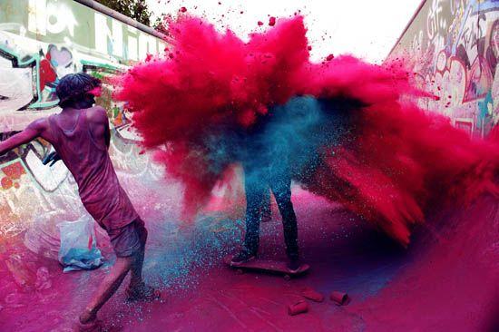 Holi: Colour, Festivals, Explosion, Colors, Street Art, India, Holi Festival, Photography, Paint War